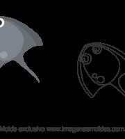 Molde Fundo do Mar - Arraia - Molde para EVA - Feltro e Artesanato