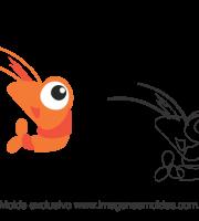 Molde Fundo do Mar - Camarão - Molde para EVA - Feltro e Artesanato