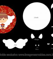 Molde Natal - Anjinho - Moldes de EVA - Feltro e Artesanato