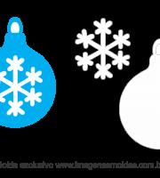 Molde Natal - Bola 1 - Moldes de EVA - Feltro e Artesanato