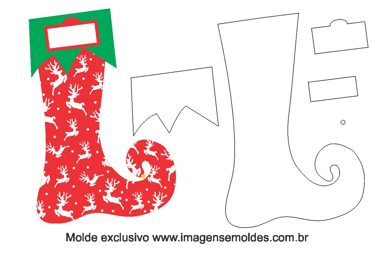 Aparador Imaginus Tabaco ~ Molde Natal Bota Duende Moldes de Feltro EVA e