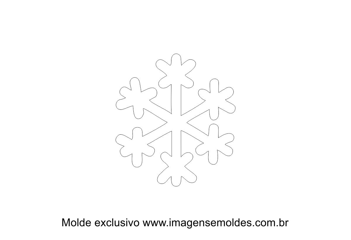 molde natal floco de neve moldes de feltro eva e artesanato
