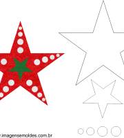 Molde de Natal Estrela 03