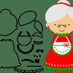 Molde de Natal Para E.V.A. Feltro e Artesanato – Mamãe Noel – 3