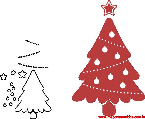 molde de natal para e v a feltro e artesanato pinheiro 2