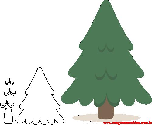 molde de natal para e v a feltro e artesanato pinheiro 5
