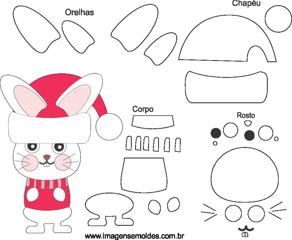 Molde de Natal para Eva, Feltro e Artesanato-Bichinho 3