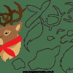 Molde de Natal Para E.V.A. Feltro e Artesanato – Bichinho 13