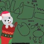 Molde de Natal para Feltro, Eva e Artesanato-Bichinho 2