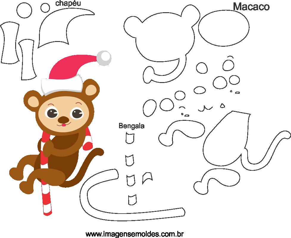 Molde de Natal para Feltro, Eva e Artesanato-Bichinho 3