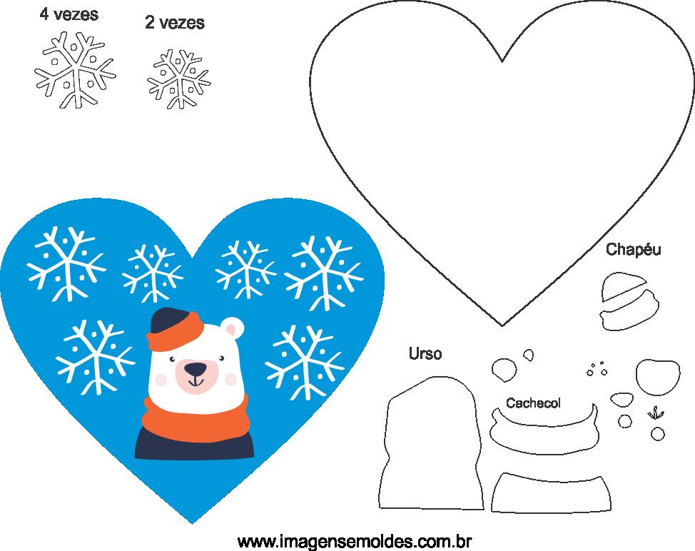 Molde de Natal para Feltro, Eva e Artesanato