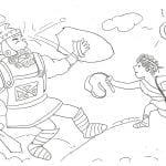 Desenhos Bíblicos para Colorir Golias