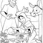 Desenhos Bíblicos para Colorir o Nascimento de Jesus