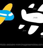 Molde Transportes -Avião - Moldes de EVA - Feltro e Artesanato