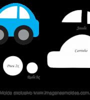 Molde Transportes - Carro 1 - para EVA, Feltro e Artesanato
