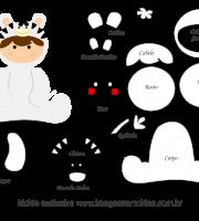 Molde de Animais Baby - Zebra - para EVA, Feltro e Artesanato