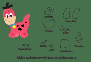 Molde de Flintstones - Dino - para EVA, Feltro e Artesanato