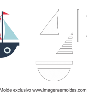 Molde de Marinheiro- Barco - para EVA, Feltro e Artesanato