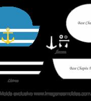 Molde de Marinheiro - Chapéu - para EVA, Feltro e Artesanato