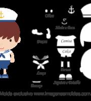 Molde de Marinheiro- Marinheiro - para EVA, Feltro e Artesanato