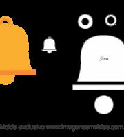 Molde de Marinheiro - Sino - para EVA, Feltro e Artesanato