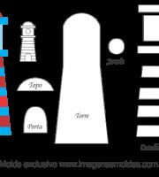 Molde de Marinheiro - Torre 2- para EVA, Feltro e Artesanato