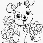 Desenho para Colorir Cachorro