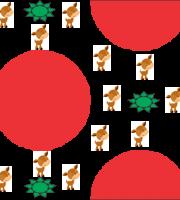 Papel digital com renas e bolas de natal