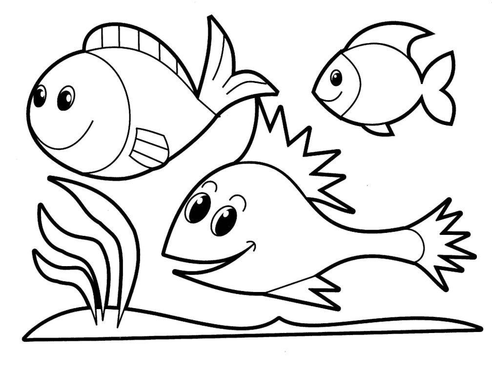 Desenhos Para Colorir Peixinhos Imagens E Moldes.com.br