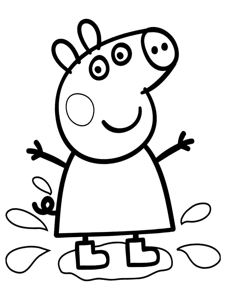 Famosos Desenhos para colorir peppa pig PNG Imagens e Moldes.com.br CN08