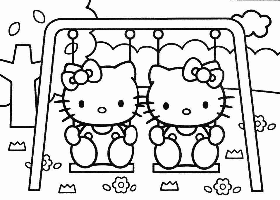 desenhos para colorir hello