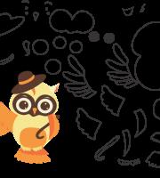 Molde de animal, coruja 1, para eva, feltro e artesanato
