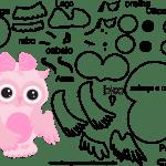 Molde de animal coruja 2 para Eva, Feltro e Artesanato
