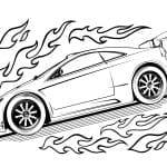 Desenhos para Colorir Hot Wheels