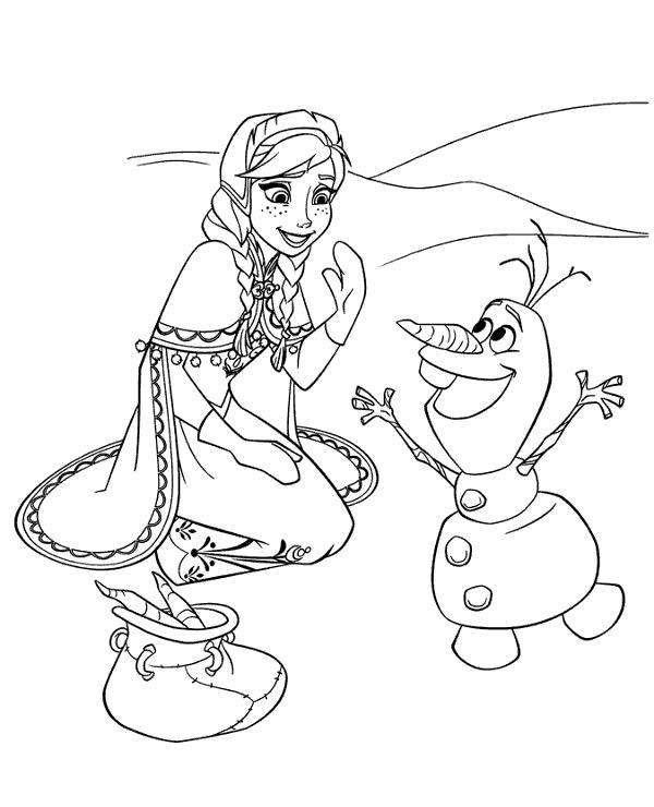 desenhos para colorir da frozen anna