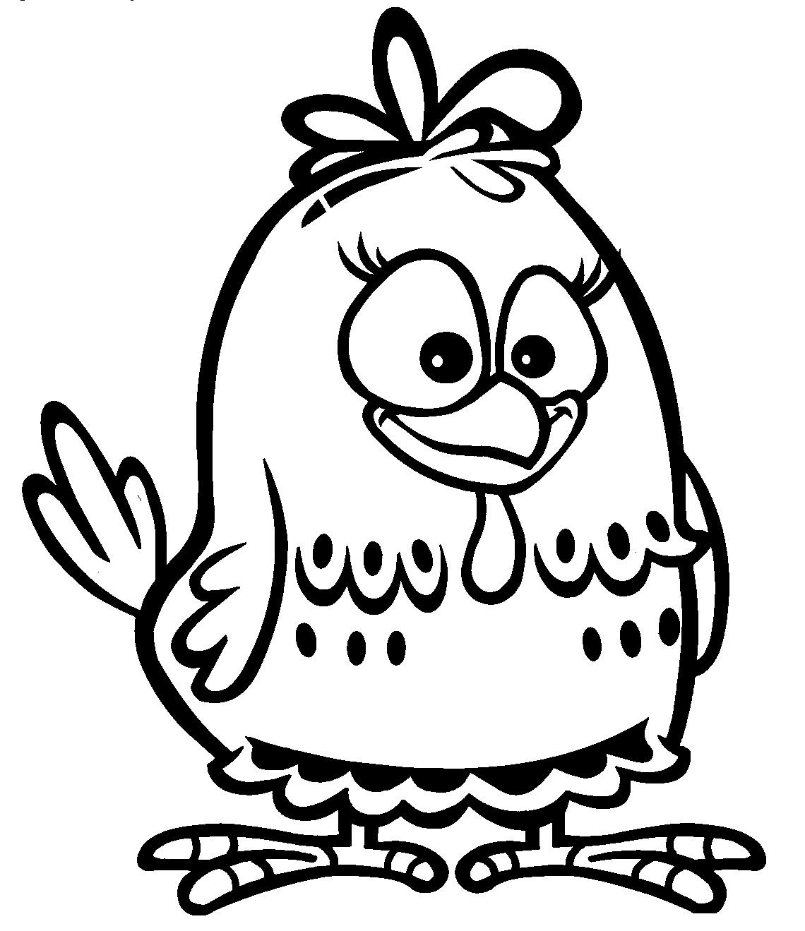 Desenhos para colorir da galinha pintadinha