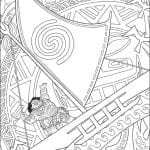 Desenhos para Colorir da Moana