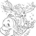 Desenhos para Colorir da Pequena Sereia Ariel