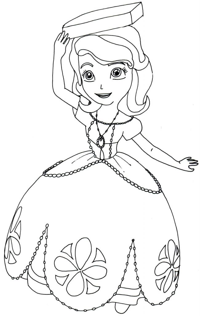 desenhos para colorir da princesinha sofia