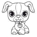 Desenhos para Colorir de Animais Cachorro
