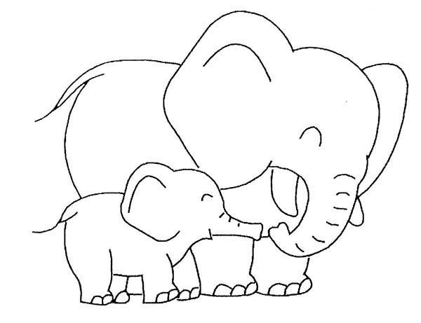 Desenhos Para Colorir De Animais Elefante