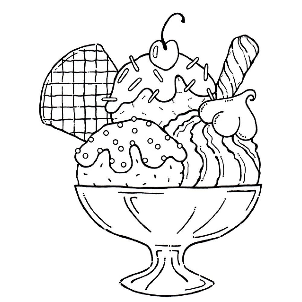 desenhos para colorir de sorvete