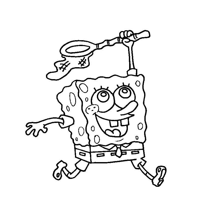 Desenhos Para Colorir Do Bob Esponja