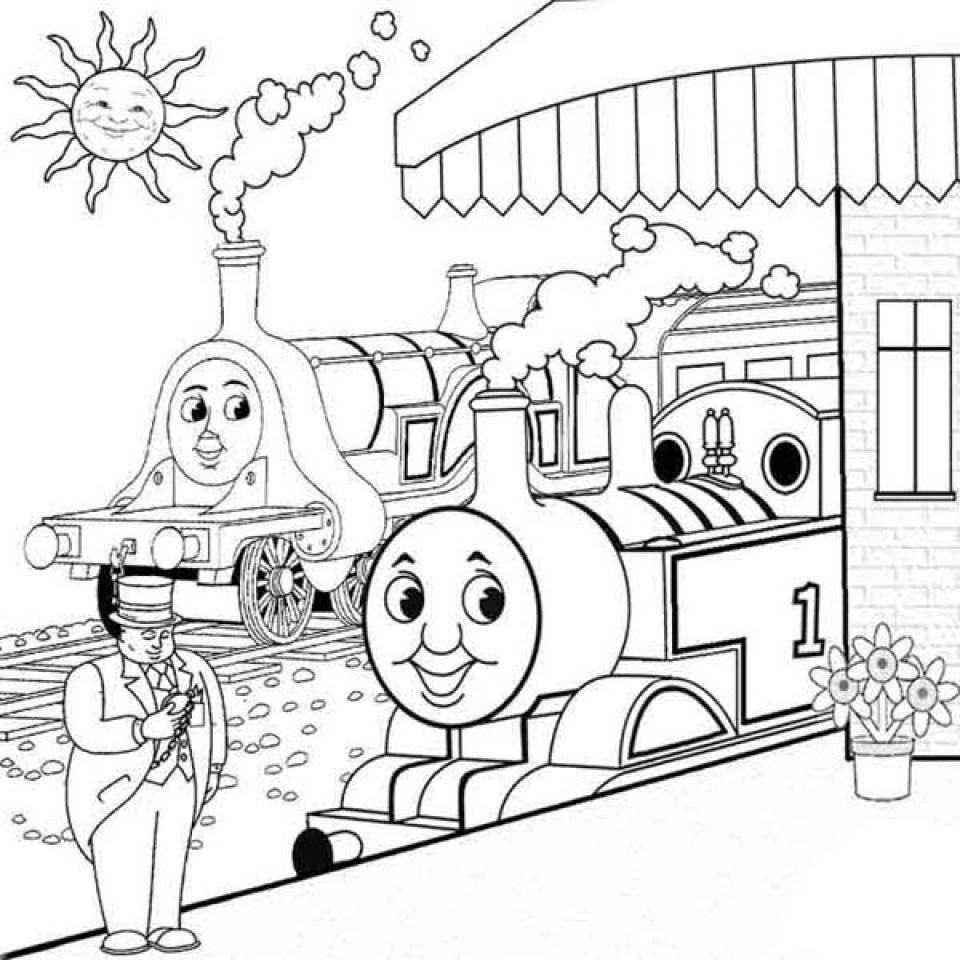 Excepcional Thomas Y Amigos Para Colorear Gordon Componente ...