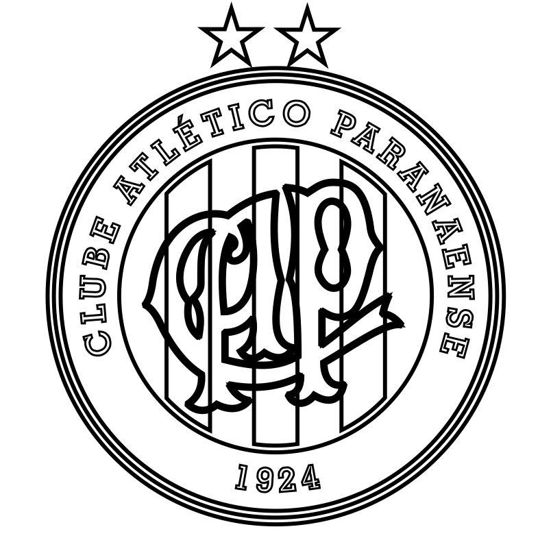 EMBLEMA DO CLUBE ATLÉTICO PARANAENSE DE CURITIBA-PR PARA COLORIR 05 60256a8cd956e