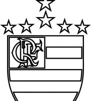 EMBLEMA DO CLUBE DE REGATAS DO FLAMENGO PARA COLORIR 02