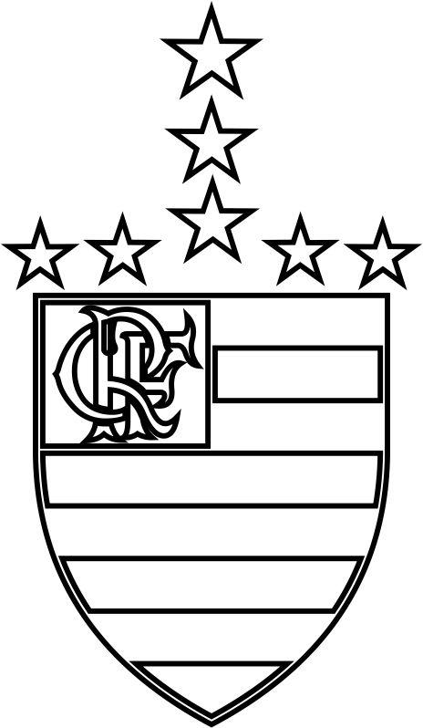 emblema do clube de regatas do flamengo para colorir 02