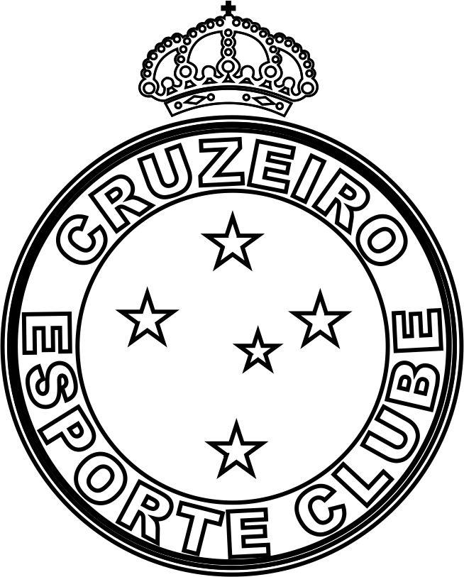 EMBLEMA DO CRUZEIRO ESPORTE CLUBE DE BELO HORIZONTE-MG PARA COLORIR 11