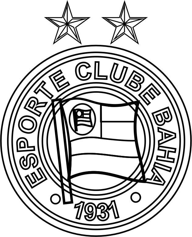 EMBLEMA DO ESPORTE CLUBE BAHIA PARA COLORIR 06 f51269930d6cf