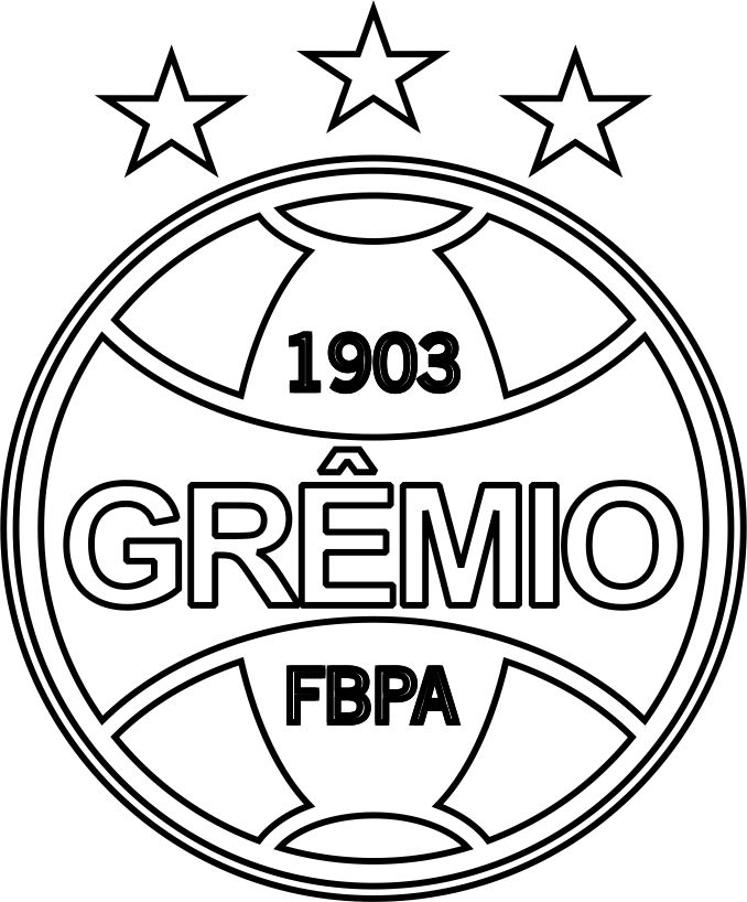 EMBLEMA DO GRÊMIO DE PORTO ALEGRE-RS PARA COLORIR 13 1e40070ed935c
